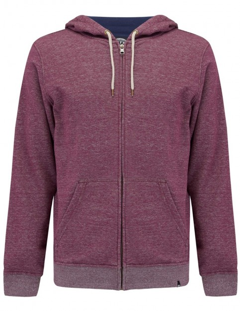 Animal Escoloet Zipped Hoody in Mauve Purple Marl