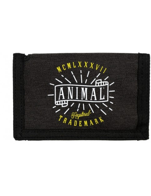 Animal Exploited Polyester Wallet in Black