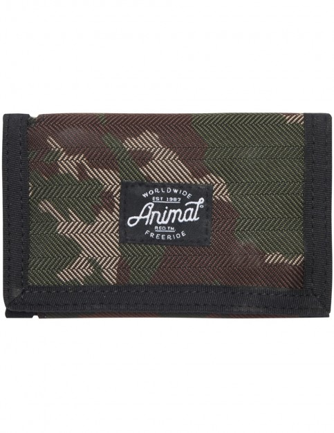 Animal Exploited Polyester Wallet in Camo Green