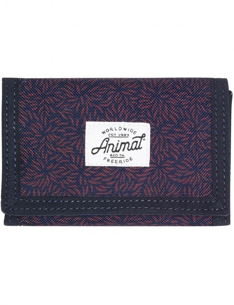 Animal Exploited Polyester Wallet in Dark Navy