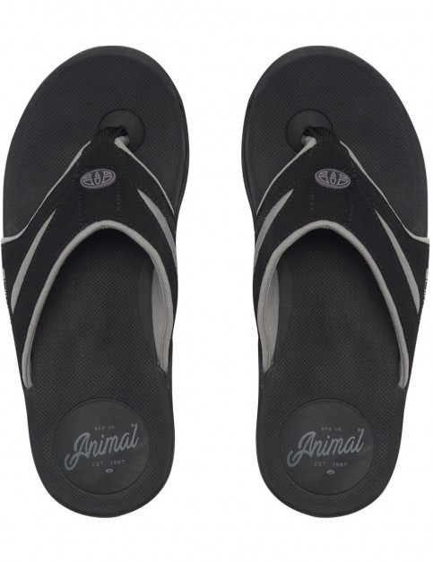 Animal Fader Flip Flops in Black