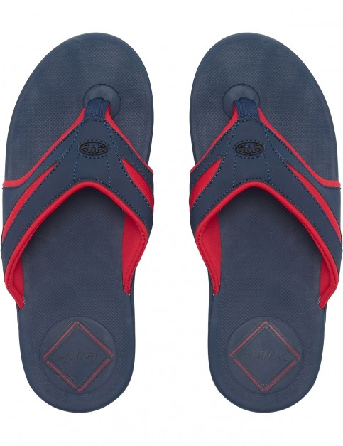Animal Fader Flip Flops in Dark Navy