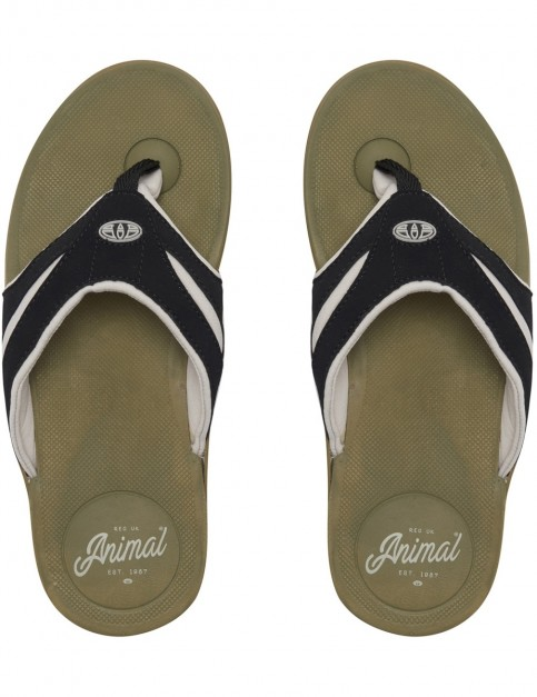 Animal Fader Flip Flops in Lizard Green