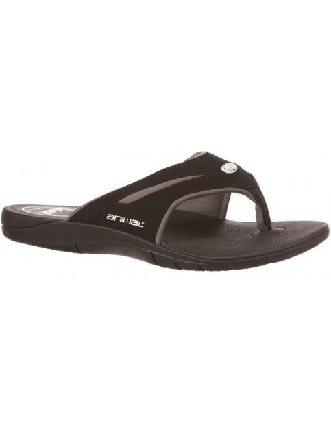 Black Animal Fader Sport Sandals