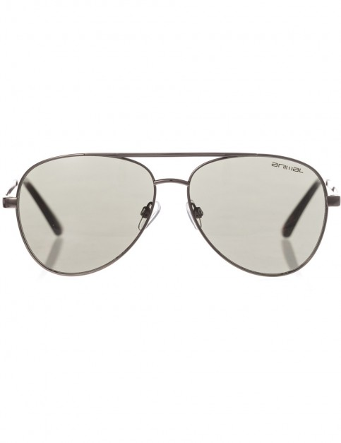 Animal Fire Aviator Sunglasses in Gun Metal
