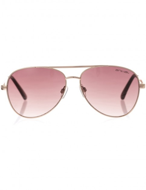 Animal Fire Aviator Sunglasses in Pale Gold