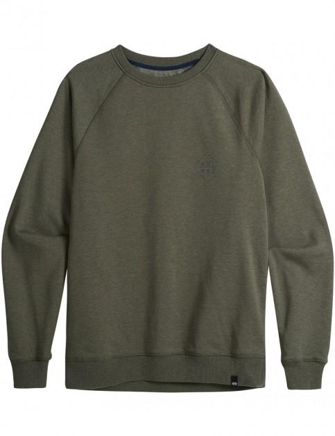 Animal Fischer Sweatshirt in Dark Olive Green Marl
