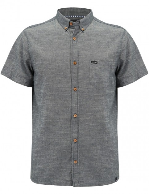 Animal Fleck Short Sleeve Shirt in Dark Navy