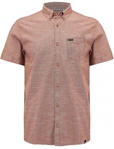 Animal Fleck Short Sleeve Shirt in Patina Brown