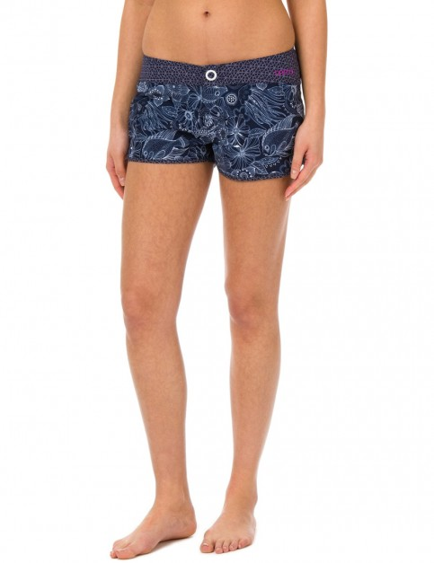Animal Florianne Short Board Shorts in Mid Navy Blue