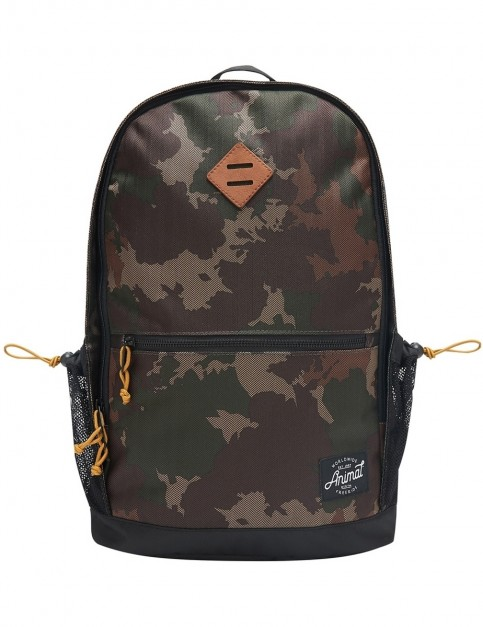 Animal Frontside Backpack in Camo Green