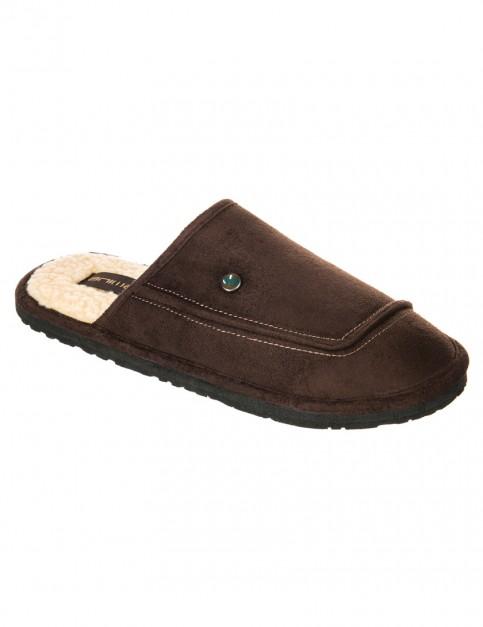 Dark Brown Animal Halfpipe Slippers