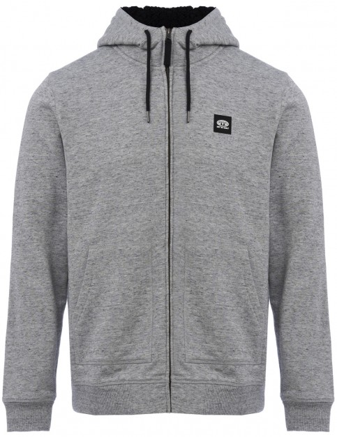 Animal Heath Zipped Hoody in Light Grey Marl