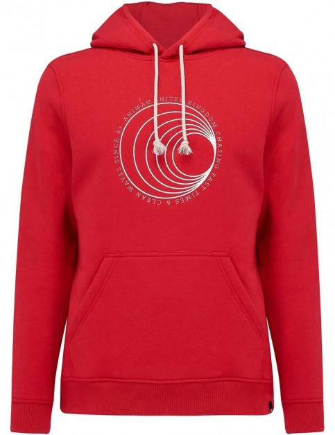 Animal Hills Pullover Hoody in Rich Red