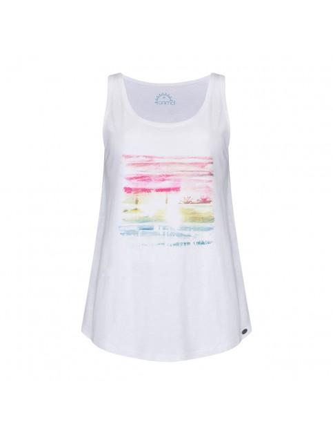 Animal Holz Sleeveless T-Shirt in White