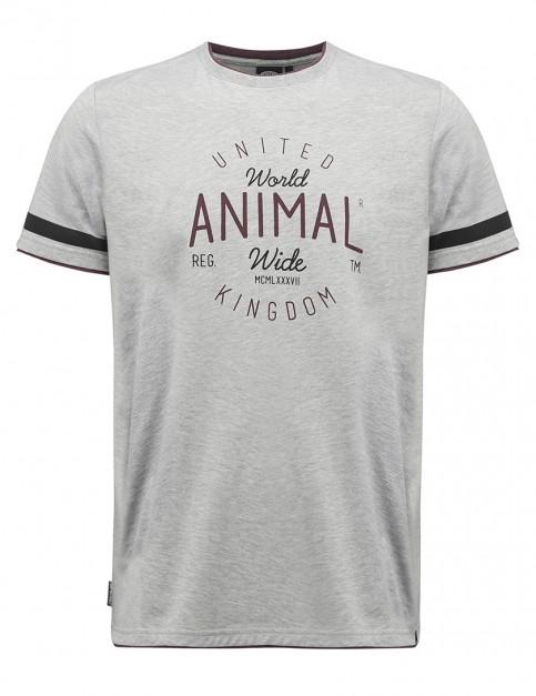 Animal Hoops Short Sleeve T-Shirt in Grey Marl