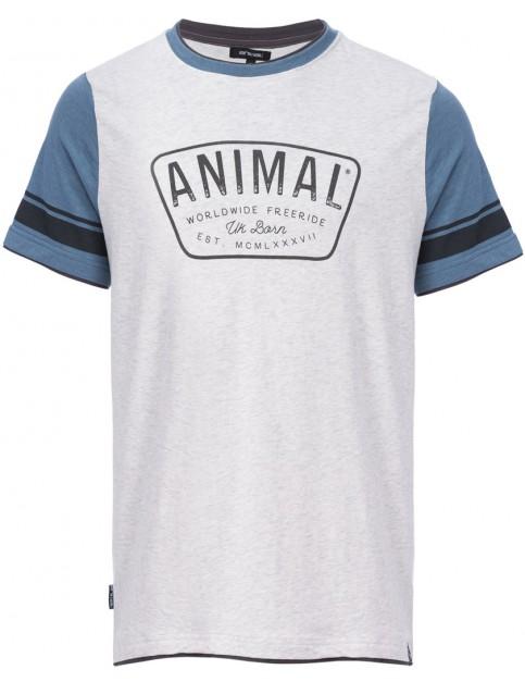 Light Grey Marl Animal Hoops Short Sleeve T-Shirt