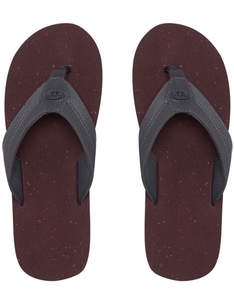 Animal Huxley Flip Flops in Asphalt Grey