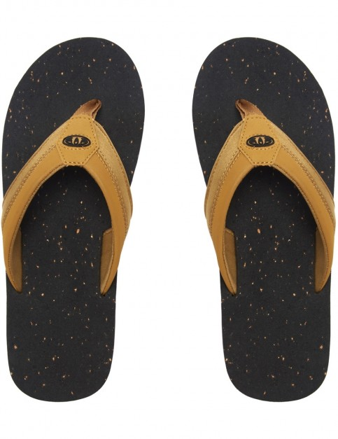Animal Huxley Flip Flops in Black