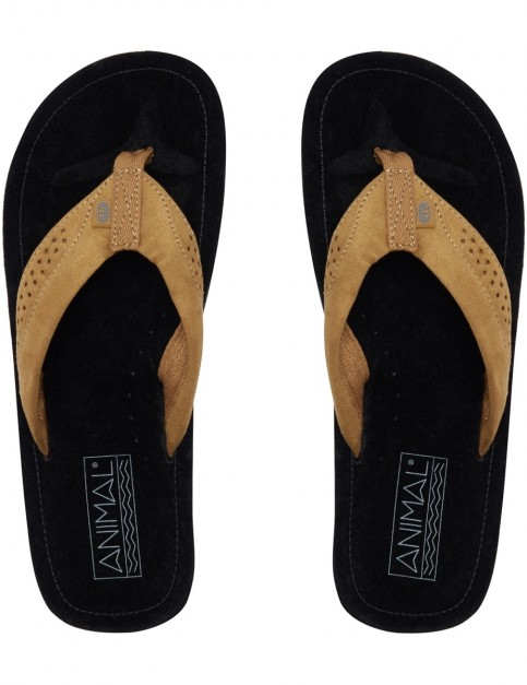 Animal Hyde Flip Flops in Black