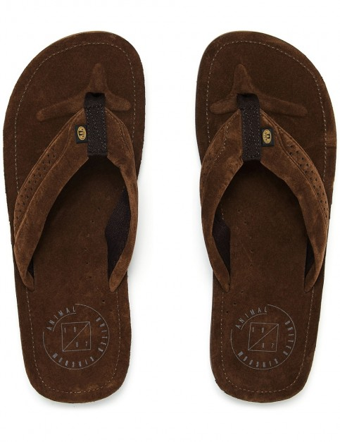 Animal Hyde Flip Flops in Brown