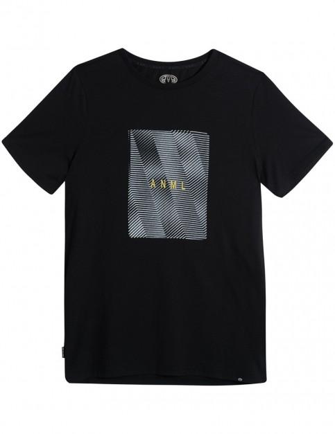 Animal Imitate Short Sleeve T-Shirt in Black