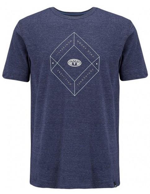 Animal Impact Short Sleeve T-Shirt in Dark Navy Marl