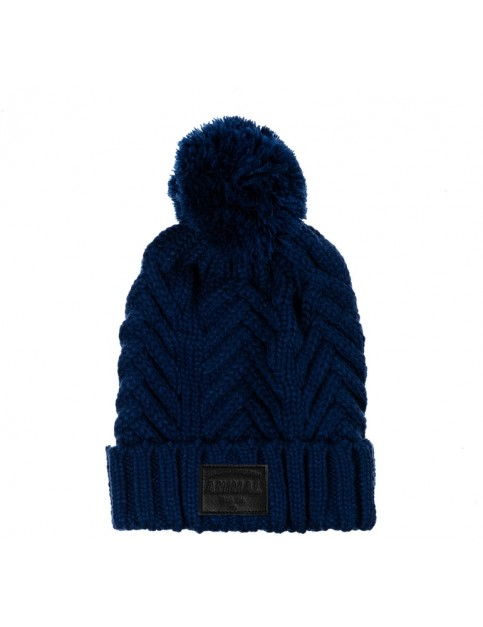 Animal Irving Bobble Hat in Deepest Blue