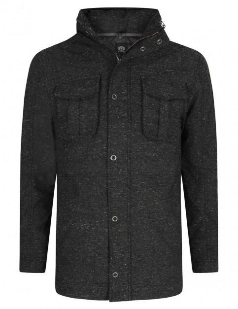 Charcoal Grey Marl Animal Jackoo Fashion Jacket