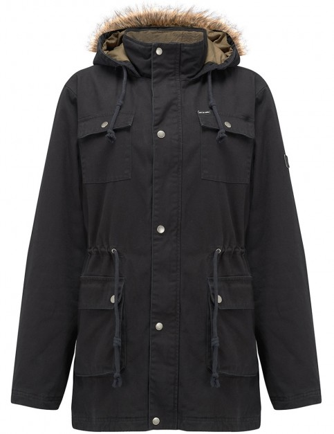 Animal Jamo Parka Jacket in Black