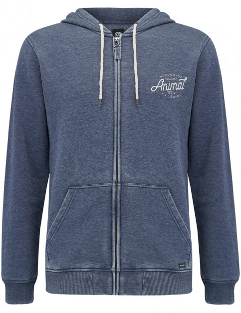 Animal Jax Zipped Hoody in Dark Navy