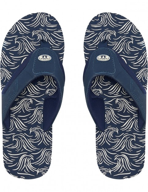 Animal Jekyl AOP Flip Flops in Dark Navy