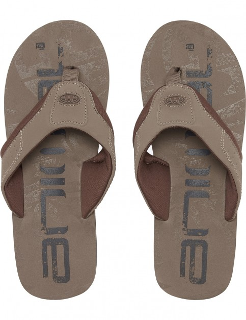 Animal Jekyl Logo Flip Flops in Brown