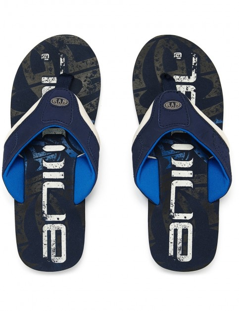 Animal Jekyl Logo Flip Flops in Dark Navy