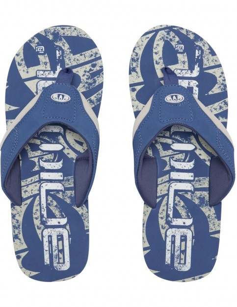 Animal Jekyl Logo Flip Flops in Lakewood Blue