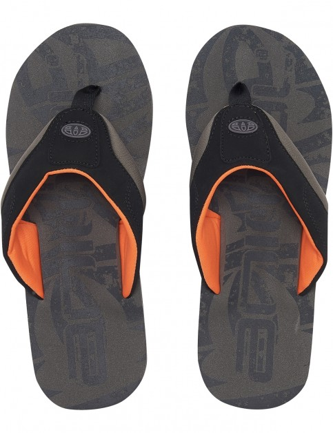 Animal Jekyl Logo Flip Flops in Plum Grey