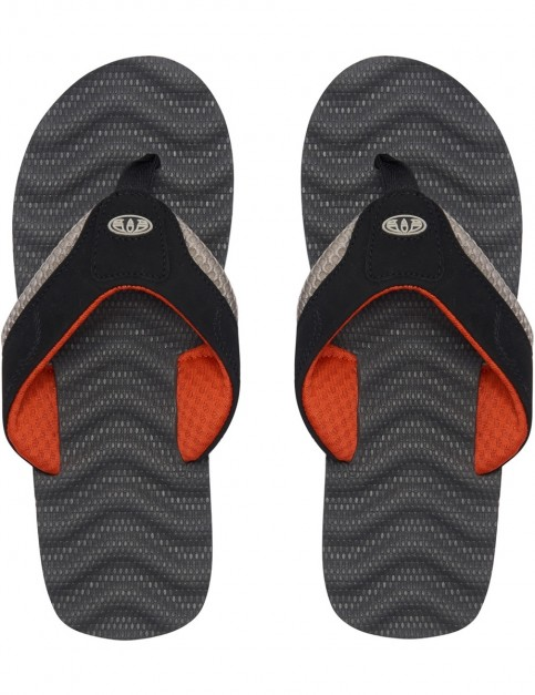 Animal Jekyl Ripple Flip Flops in Asphalt Grey