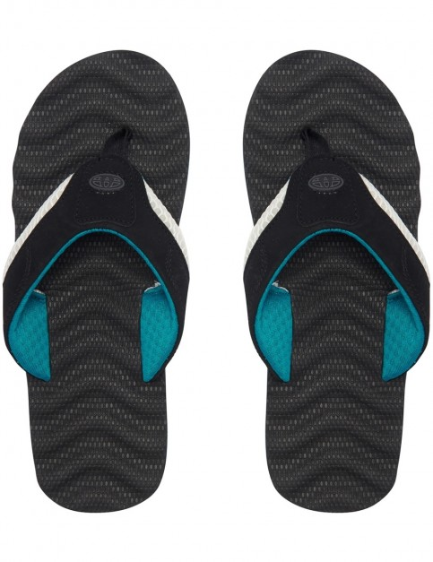 Animal Jekyl Ripple Flip Flops in Black