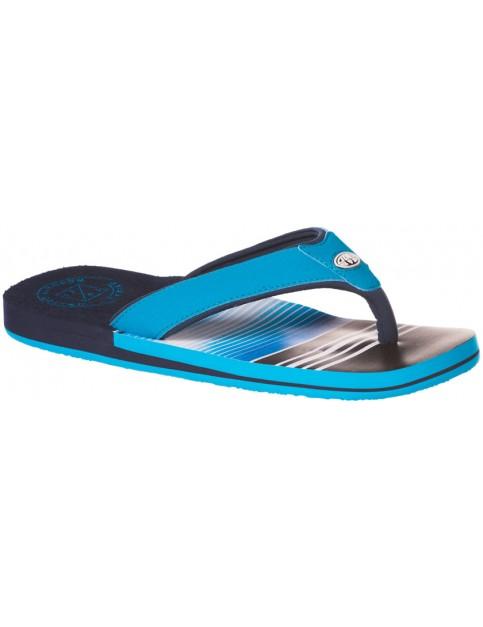 Animal Jekyl Soft Flip Flops in Hawaiian Blue