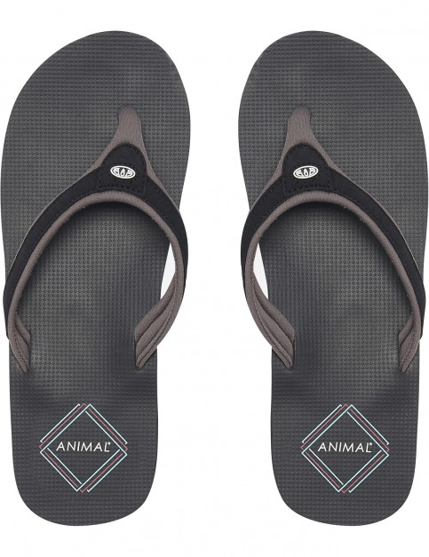 Animal Jekyl Swish Flip Flops in Black