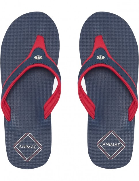 Animal Jekyl Swish Flip Flops in Dark Navy