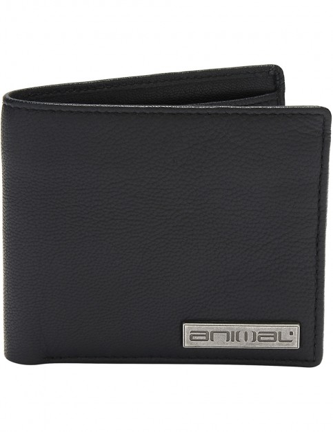 Animal Jeremie Leather Wallet in Black
