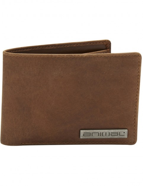 Animal Jeremie Leather Wallet in Brown