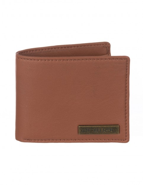 Animal Jeremie Leather Wallet in Tan