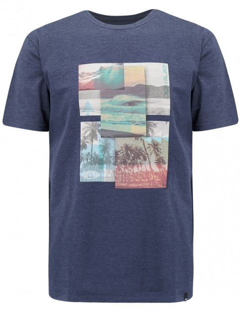 Animal Juan Short Sleeve T-Shirt in Dark Navy Marl