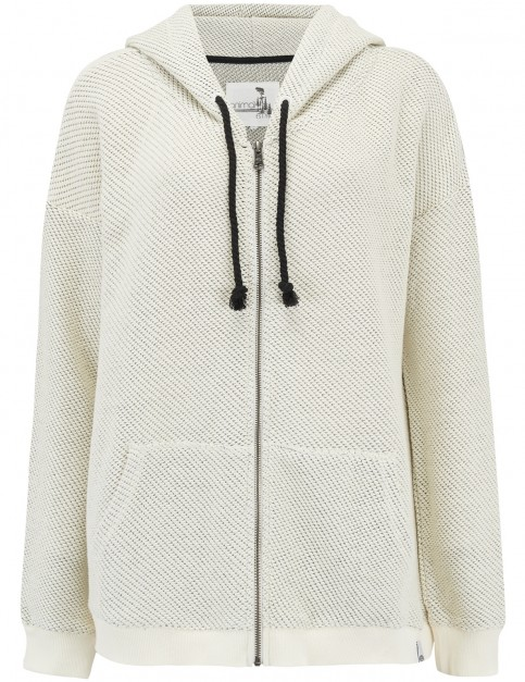 Animal Jude Too Zipped Hoody in Coconut Cream