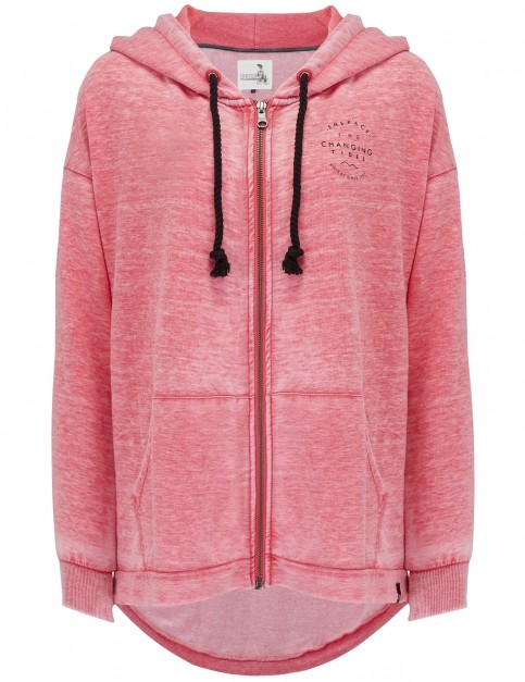 Animal Jude Too Zipped Hoody in Cranberry Red