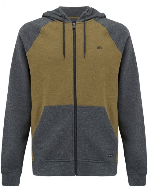 Animal Jump Zipped Hoody in Dark Charcoal Marl