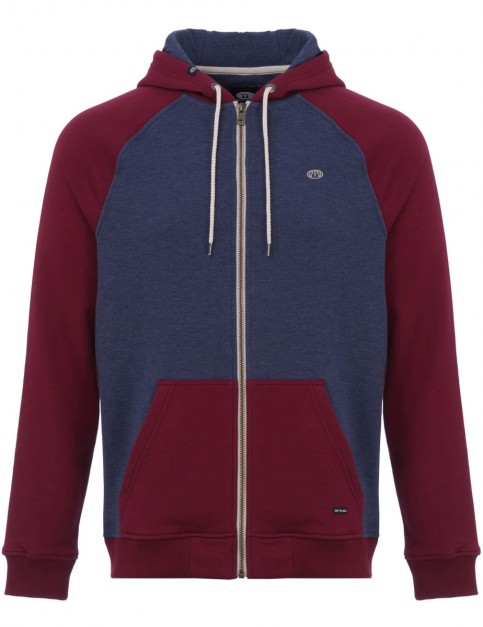 Animal Jump Zipped Hoody in Dark Navy Marl