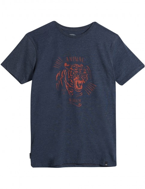 Animal Kato Short Sleeve T-Shirt in Dark Navy Marl